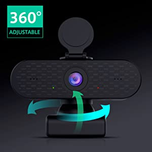 360 Degree Video Conference Room Webcam and Microphone 2k Webcam Autofocus for Mac Android Windows