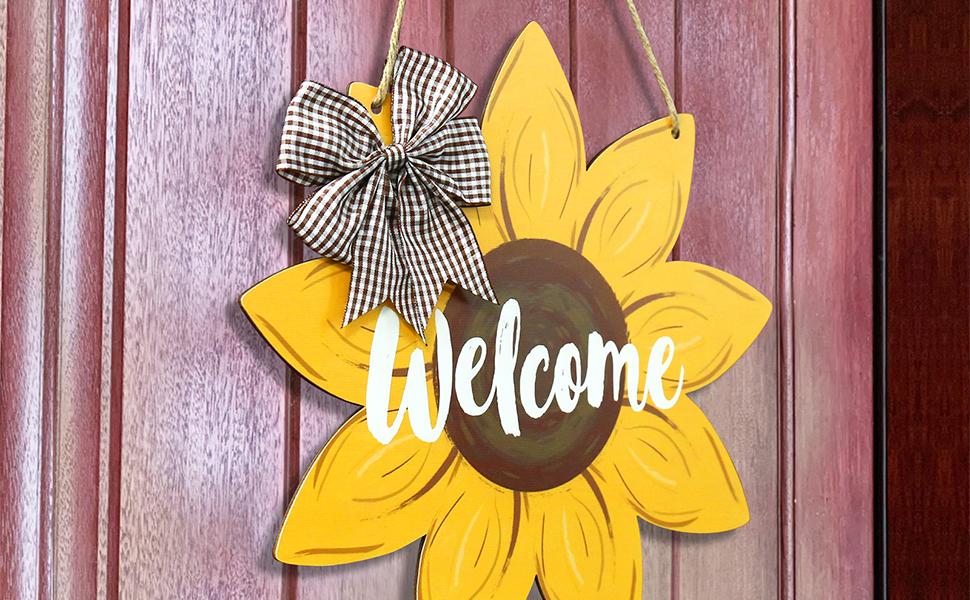 Wood Sunflower Door Hanger Summer Decor Fall Decor Wood Wall Art Garden Decor Wooden Sunflower Autumn Decor Door Decor Porch Decor Art Gift