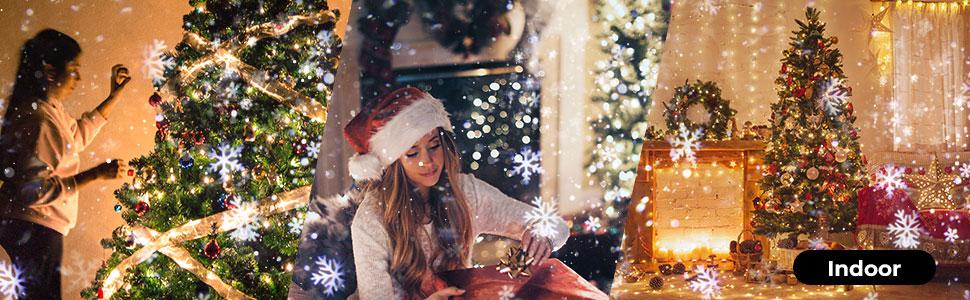 Christmas Snowflake Projection Lamp