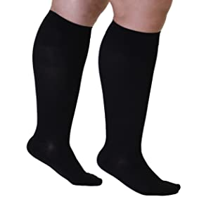 mojo compression plus size wide calf knee high