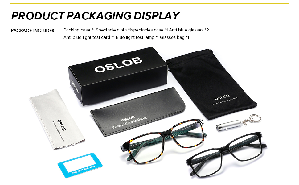 DESIGNED PACKAGE INCLUDING TEST PEN AND CARD FOR SHOWS THE BLUE LIGHT BLOCKING EFFECTS
