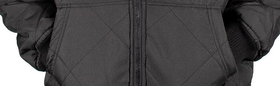 Freeze Defense Men's Fleeced Lined Winter Jacket Hand Warmer Pockets