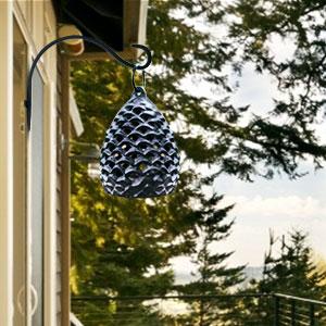 hanging plant basket black