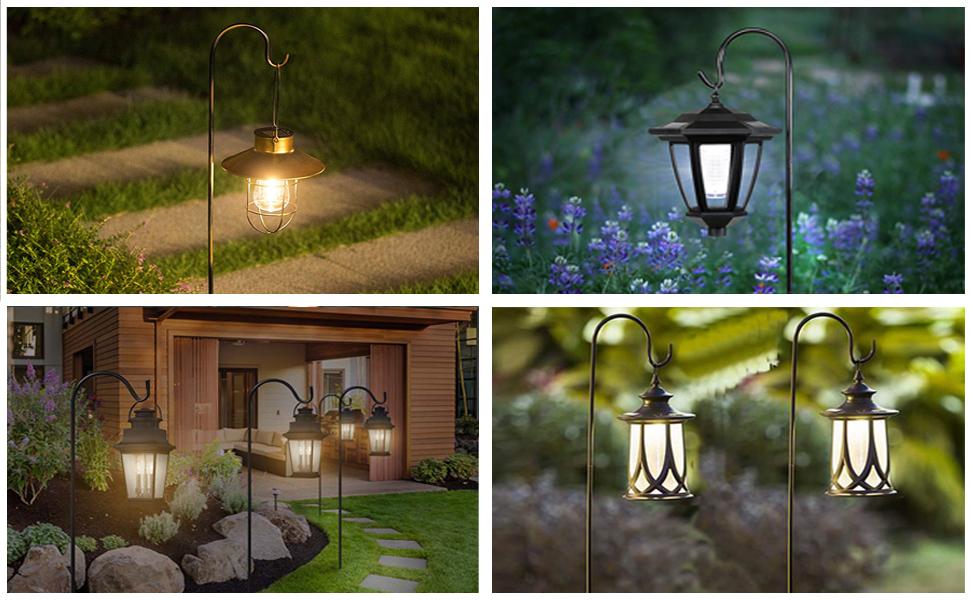 garden hooks for lanterns garden stakes for hanging plants hanging plant stake