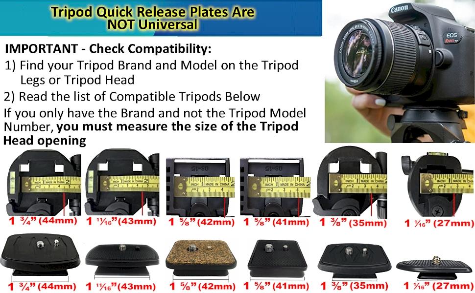 vivitar v3000 tripod quick release plate