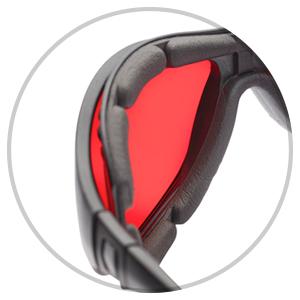 protective seal gasket block leakage blue green light blocking red lens sleep aid