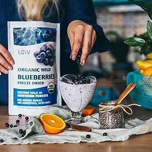 blueberries cooking healthy vitamins Nordic natural no sugar