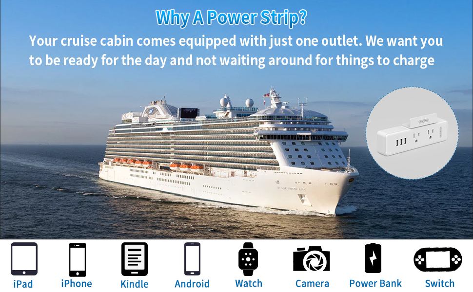 power strip for cruise ship