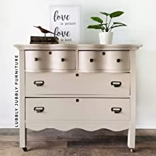 taupe beige painted furniture dresser clear coat poly top coat furniture sealant for chalk paint