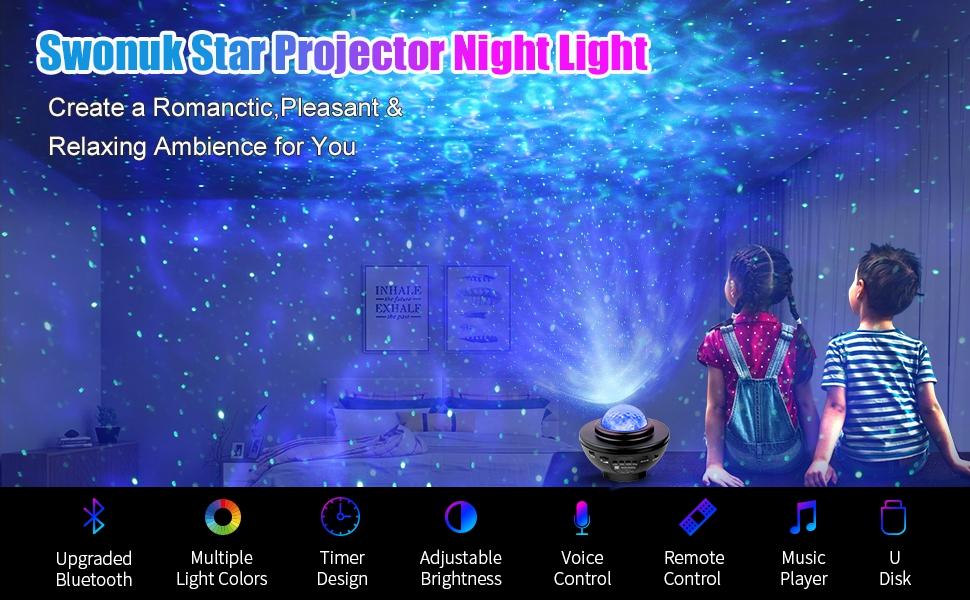 Ocean Wave Star Projector Night Light