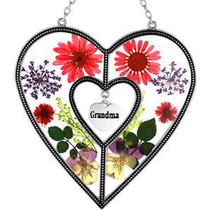 Grandma Heart Suncatcher Gift for Grandma  Grandma brither