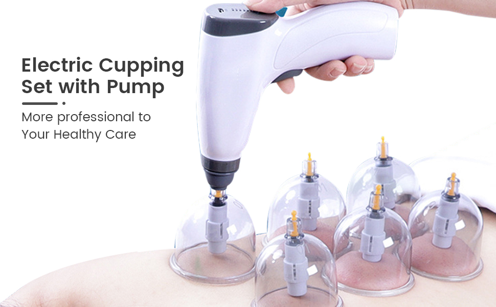 cupping set with pump vacuum therapy machine electric professional chinese gua sha massager
