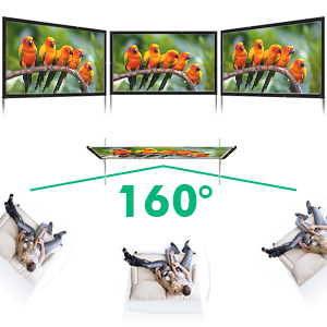 projector screen with stand portable projector screen indoor outdoor movie screen home theater