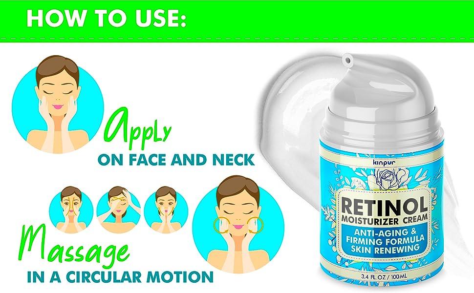 Retinol Face Moisturizer for Women Anti Aging & Wrinkles Cream that Works EBC