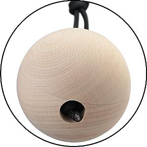 ALPIDEX 2 Unidades de Bolas de Entrenamiento de distinto tamaño - Juego de 2 Bolas de Madera para Entrenamiento de Escalada