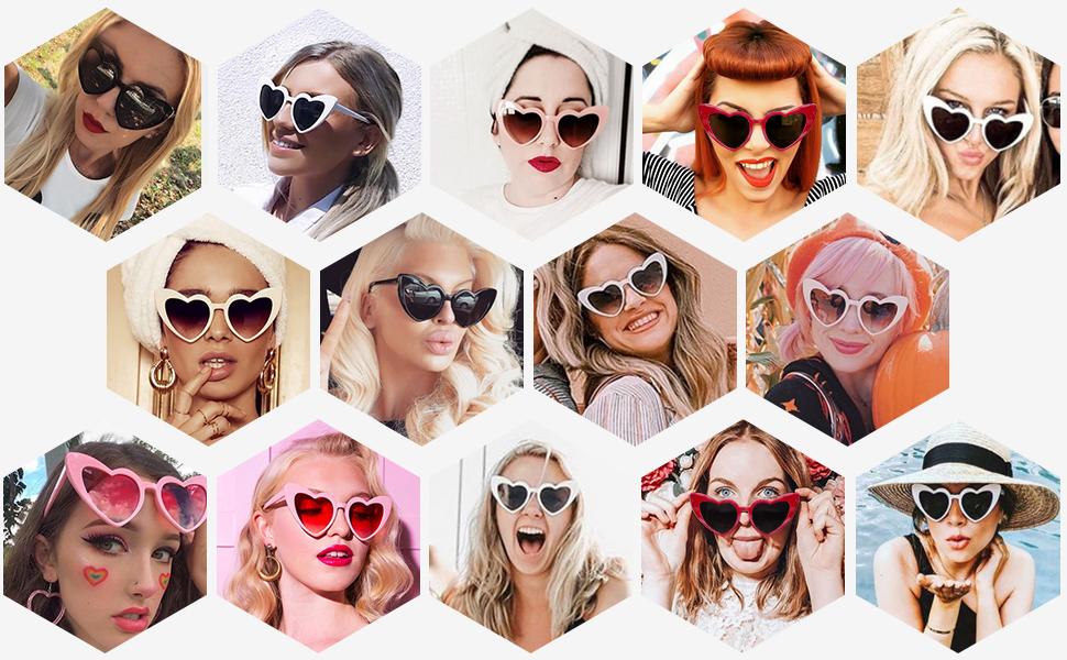 heart shaped sunglasses heart sunglasses heart glasses valentines day sunglasses women love sunglass