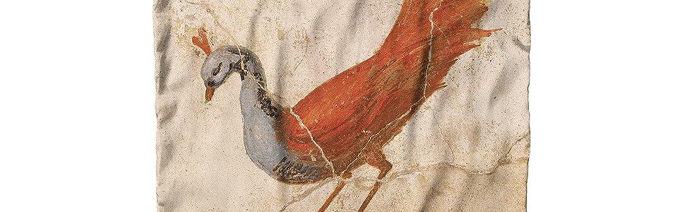 Roman Fresco Peacock Detail