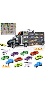 YeahiBaby Cami/ón Transportador Juguetes de Coches para Ni/ños Modelo de Coches Juguete Educativos para Ni/ños