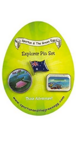 travel pins lapel explore leaning education homeschool reinforcers points spartan and the green egg