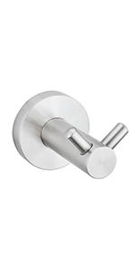 brushed nickel hook for bathroom