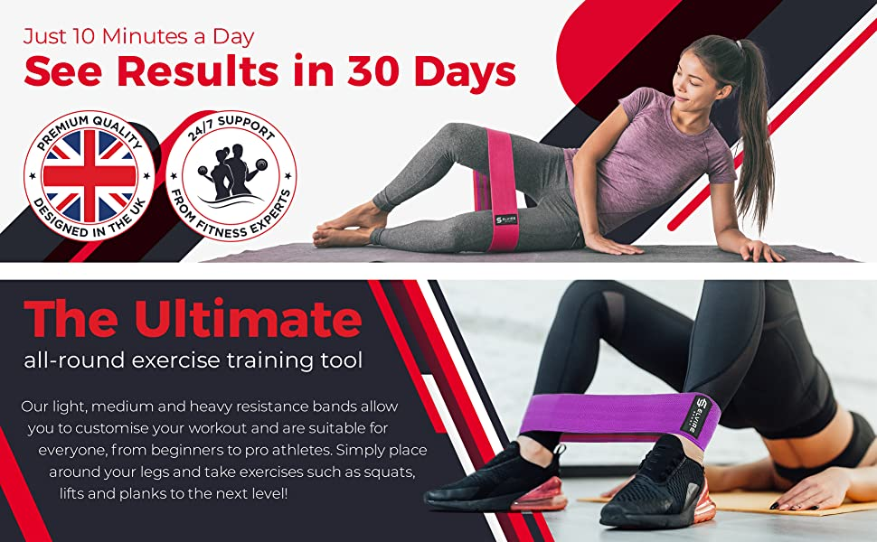 Booty bands for women on yoga mat, high quality, fitness experts, and glute bridge