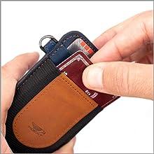 elastic front pocket