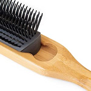 9 row hair brush for man and woman curly barber style
