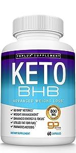 Keto BHB ketone toplux supplement