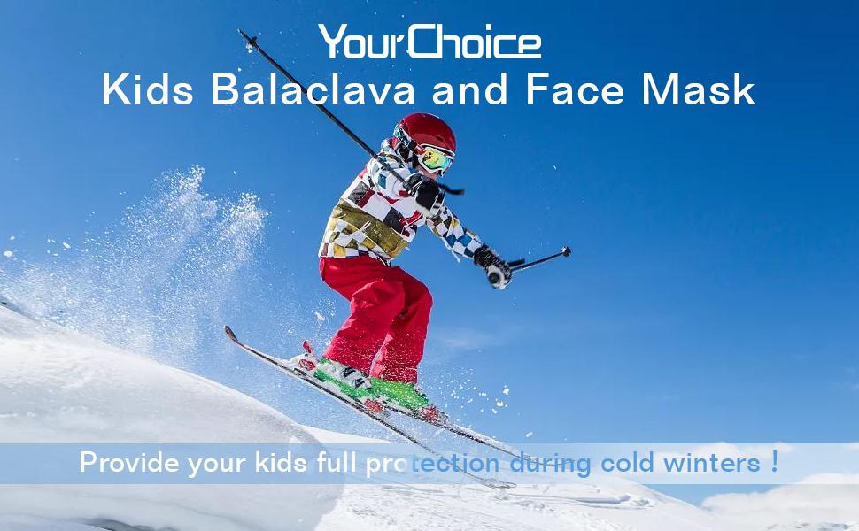 kids balaclava and face mask