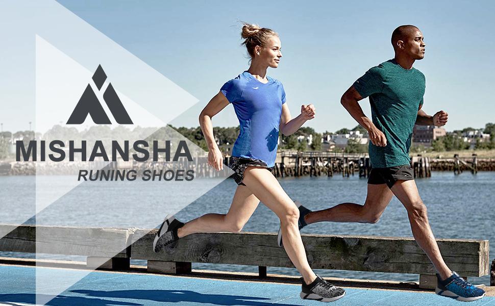 Mishansha Scarpe da Ginnastica Unisex Scarpe da Corsa Traspirante Leggero Fitness Sportive Sneakers