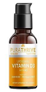 PuraTHRIVE Vitamin D3 Supplements