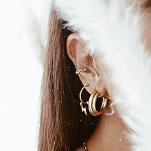 hoop earrings huggies
