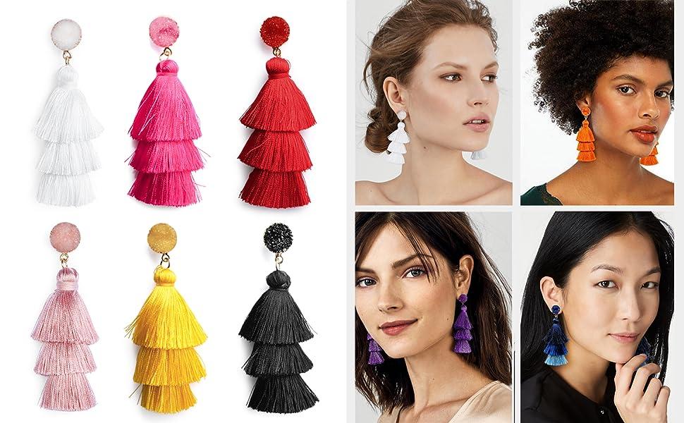 tassel earrings for women girls