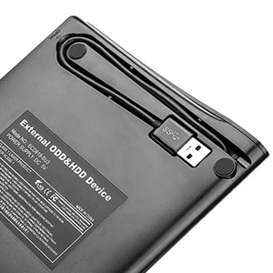 classic slim external CD/DVD drive with protective carrying case bag