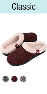 Women's Comfy Memory Foam Slippers Wool-Like Plush Fleece House Shoes