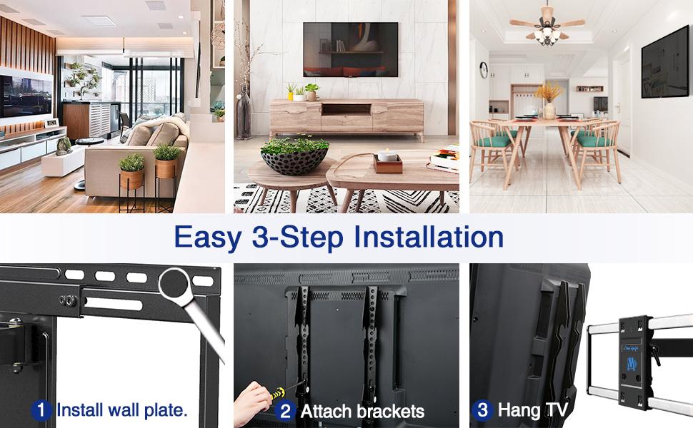 Full motion TV Wall Mount Bracket Full Motion Dual Swivel Articulating tv bracket