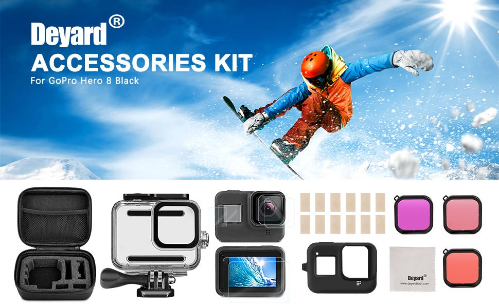 Deyard Y-01 27 en 1 Accessoires Ensemble pour Xiaomi Action Camera