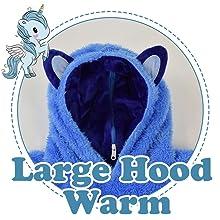 heekpek Blanket Sweatshirt /à Capuche avec Poche Grande Animaux en Peluche Pyjama Sweat Peluche Sweat /à Capuche Enfant Gar/çons et Filles