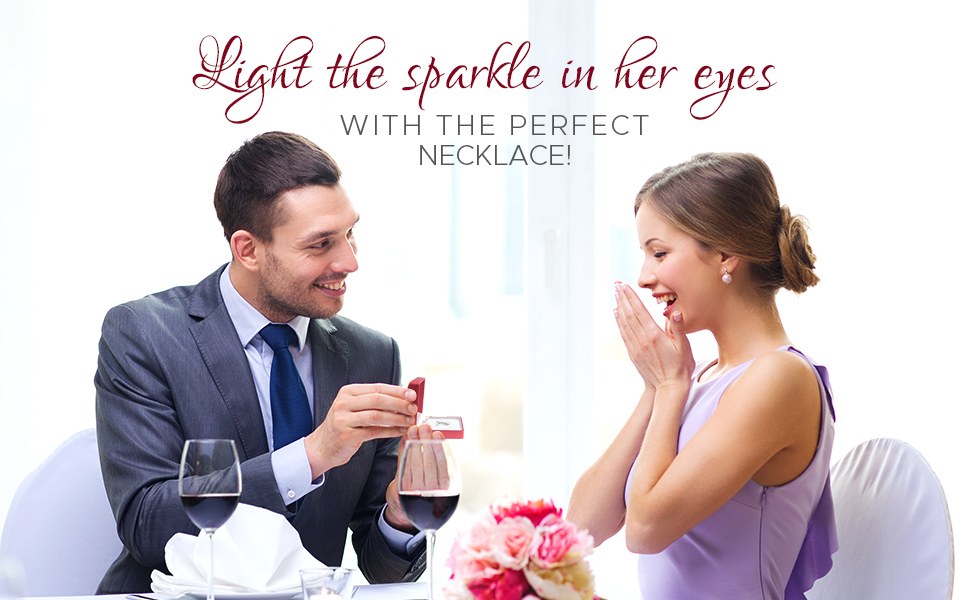 light the sparkle in her eyes with the perfect necklace
