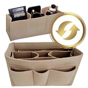 purse organizer insert handbag for women wsptbra brand bag tote neverfull mm gm felt lv longchamp