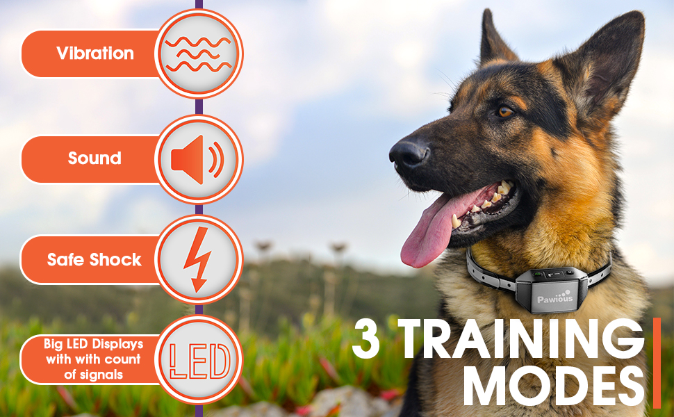 dog training collar with remote bark collar for large dog dog tracker training collar small dog