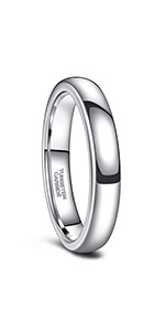 Silver Tungsten Ring