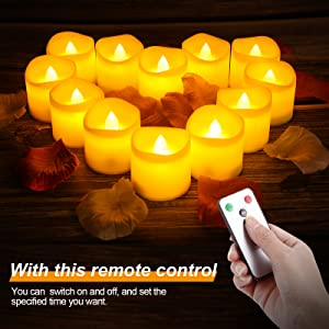 Tealight Candles with Remote Control