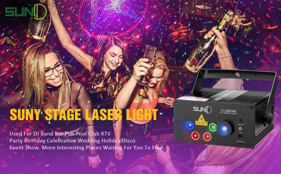 music Christmas laser lights
