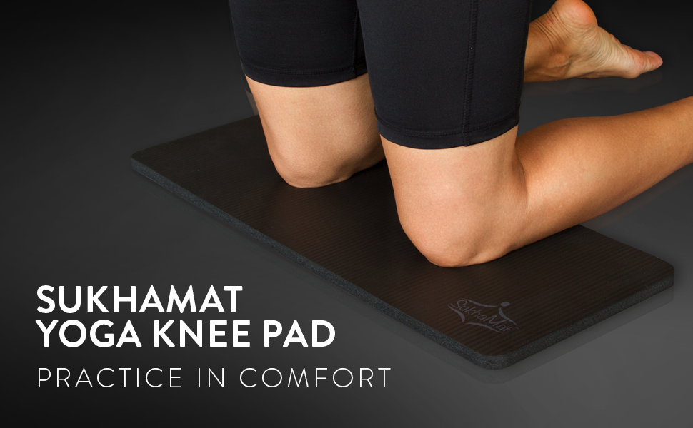 SukhaMat Yoga Knee Pad Cushion protects wrists, elbows, hands