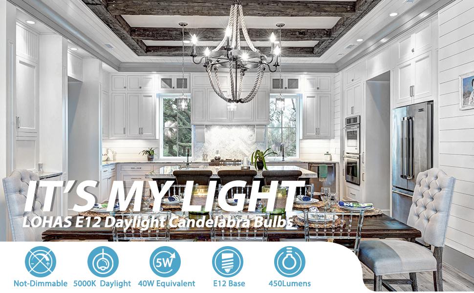 Candelabra LED bulb Chandelier Bulbs Table Tamp Ceiling Fan Light Kitchen e12 base led bulb 450 LM