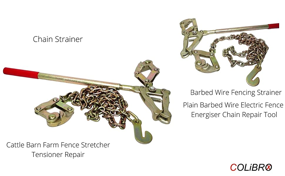 Chain Strainer Cattle Barn Farm Fence Stretcher Tensioner Repair Barbed Wire Fencing Strainer