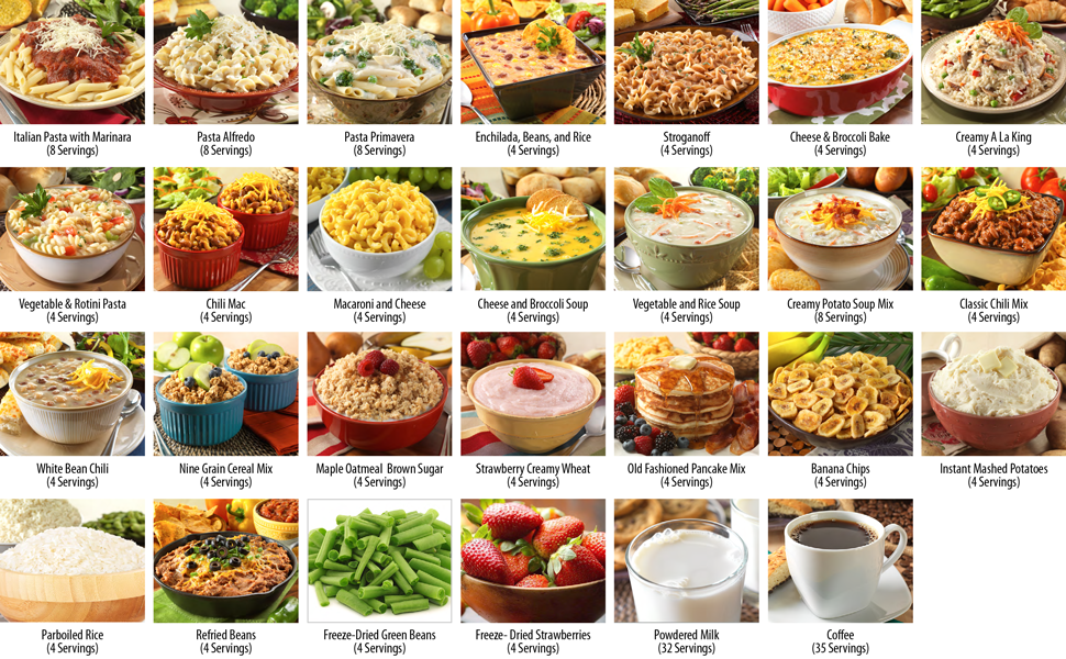 What's Included in the Legacy's 183 Serving Combo (Breakfast, Sides, Drinks and Dinners)