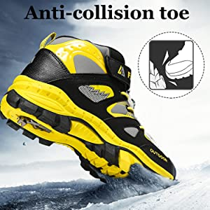 Rokiemen Zapatos de Senderismo para ni/ños Impermeables Deportiva al Aire Libre Zapatillas de Trekking Monta/ña Gr.31-39