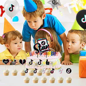 tik tok birthday party supplies